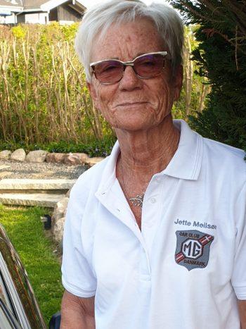 MG Car Club Danish Centre med navn MG-logo - dame/hvid. Kr. 250