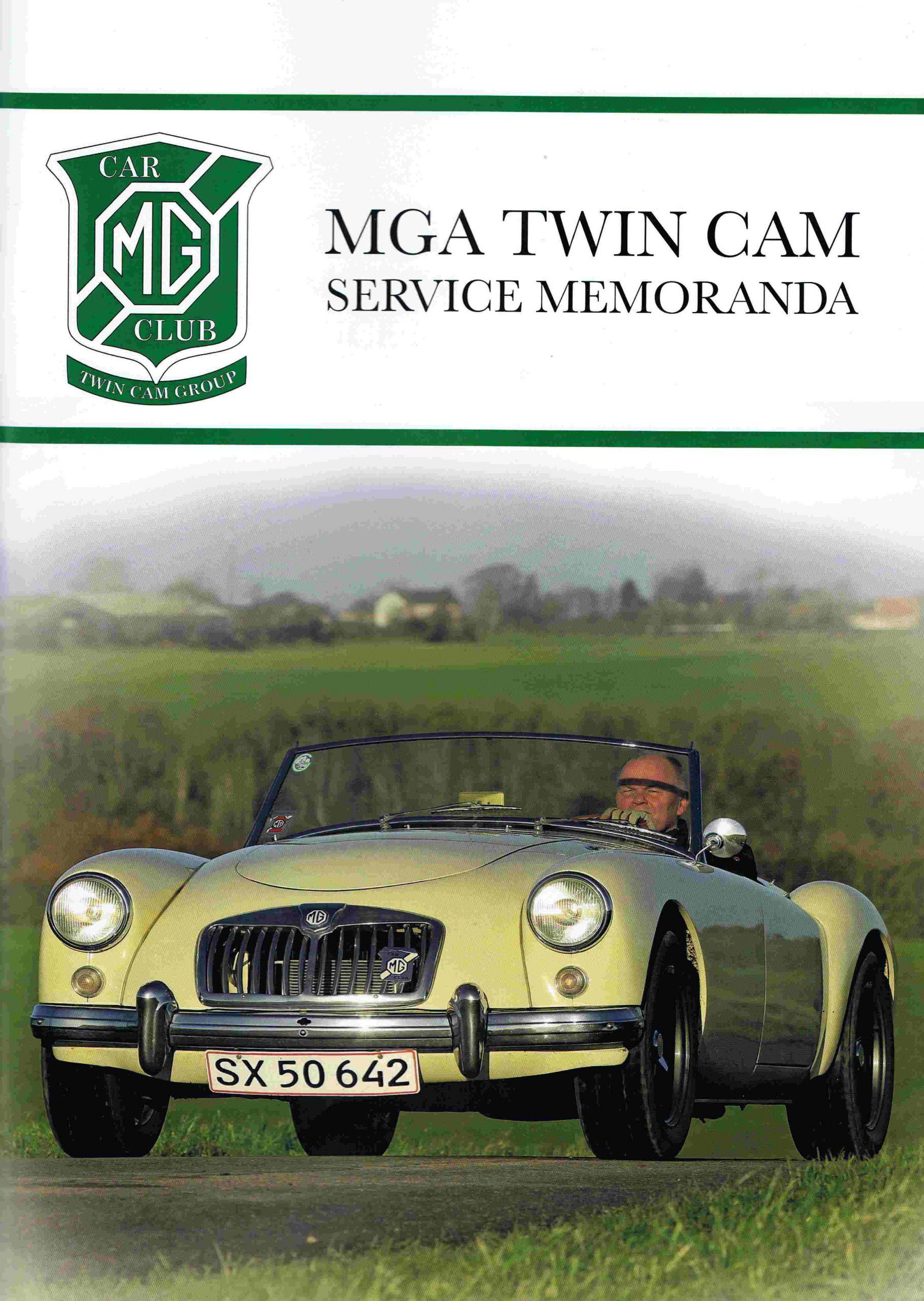 MGA Twin Cam Service Memoranda (Dansk)
