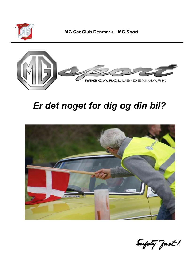 MG Sport Flyer 2019 forside