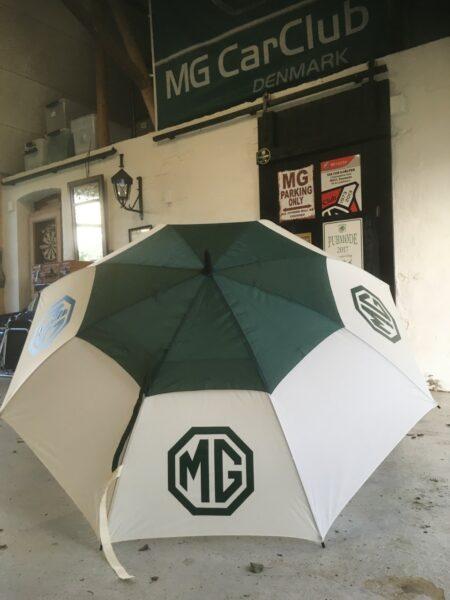 MG Paraply, kæmpe størrelse 130 cm. i diameter.